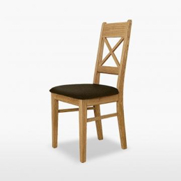 Windsor Small Cross Chair with fabric seat