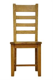 Stafford Ladder Back Chair with Wooden Seat