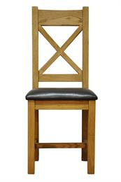 Stafford Cross Back Chair with PU Seat