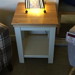 ANNECY Lamp Table with Oak Top