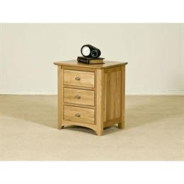 Casa Oak Three Drawer Bedside
