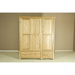 Casa Oak Triple Wardrobe with Drawers