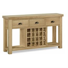 Fairford Console Table with Wine Rack