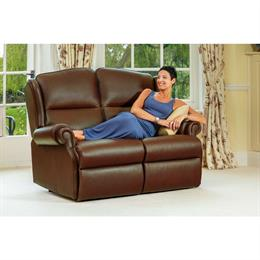 Sherborne Claremont Fixed 2 Seater Sofa (leather)