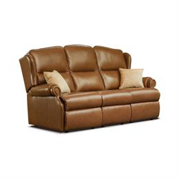 Sherborne Claremont Fixed 3 Seater Sofa (leather)