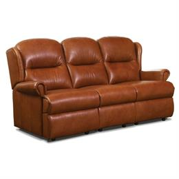 Malvern Fixed 3 Seater Sofa (leather)