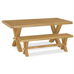 Fairford Fixed Top Trestle Table