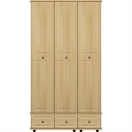 Scarlett 3 Door / 3 Drawer Tall Wardrobe