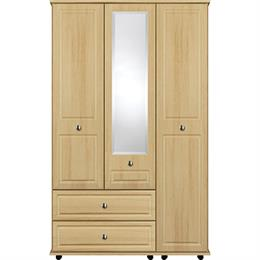 Scarlett 3 Door with 1 Centre Mirror / 2 Drawer Wardrobe