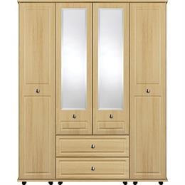 Stylo 4 Door with 2 Centre Mirrors / 2 Drawer Wardrobe