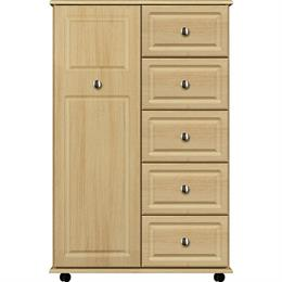 Stylo 1 Door / 5 Drawer Linen Cupboard