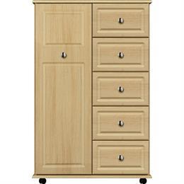 Vogue 1 Door / 5 Drawer Linen Cupboard