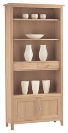 Nimbus Large Bookcase with Cupboard and Drawers