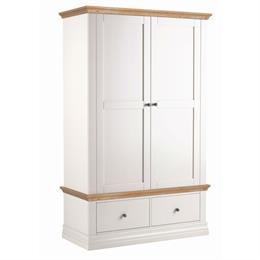Annecy Oak Top Double Wardrobe with 2 Drawers