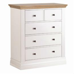 Annecy Oak Top 2+3 Drawer Chest