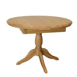 Lamont Round Extending Single Pedestal Table with 1 Leaf