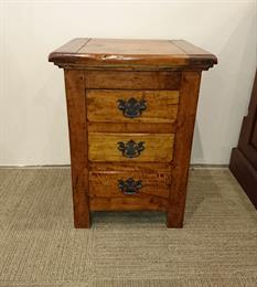 EAST INDIES 3 Drawer Bedside