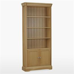 Lamont Tall Bookcase with 2 Doors & 3 Shelves