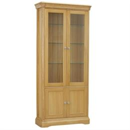 Lamont Glassed Bookcase with 2 Doors