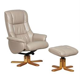 Shanghai Sahara Swivel Recliner & Stool