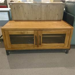 ABBEY Standard TV Unit with Glass Doors