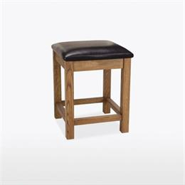 Quercia Bedroom Stool in Leather