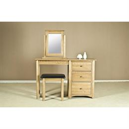 Casa Oak Single Pedestal Dressing Table