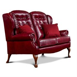 Lynton Fireside 2 Seater Sofa (leather)