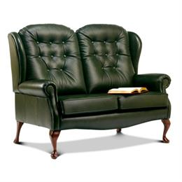 Lynton Fireside High Seat 2 Seater Sofa (leather)