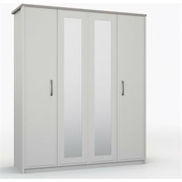 Lucerne 4 Door Wardrobe with 2 Mirrors