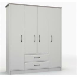 Lucerne 4 Door Combination Wardrobe