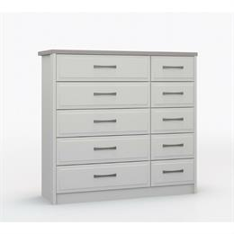 Lucerne 5 Drawer Double Chest