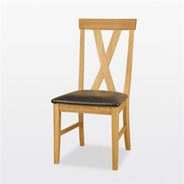 Windsor Big Cross Dining Chair (in leather)