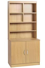 Compton Desk Height Cupboard 850mm Wide with OSB Hutch