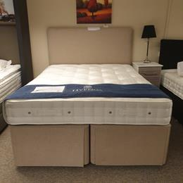 HYPNOS 5'0 Elite Posture Wool Divan Set with Hideaway Base and Headboard