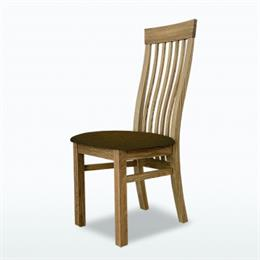 Windsor Swell Dining Chair (in leather)