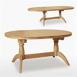 Windsor Oval Double Pedestal Extending Dining Table