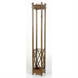 Mahogany Village Square Coat Rack