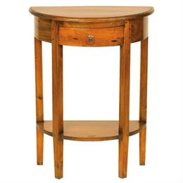 Mahogany Village Half Round Console Table