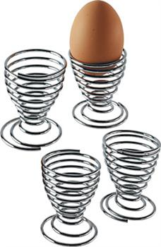 Kitchen Craft Set Of Four Chrome Plated Wire Egg Cups From Holbury