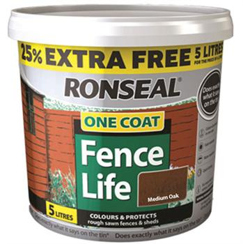 Ronseal One Coat Fencelife 4L + 25% FREE