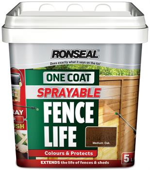 Ronseal One Coat Sprayable Fencelife - 5L