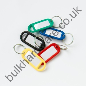 KEY TAG & RING - assorted colours