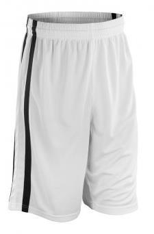 Spiro Basketball Shorts-White