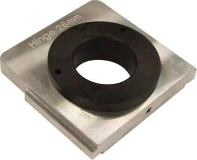 Drill insert, for cup hinges