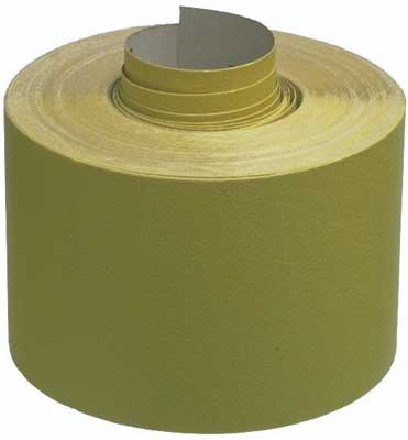 Abrasive rolls, 115 mm wide, yellow aluminium oxide