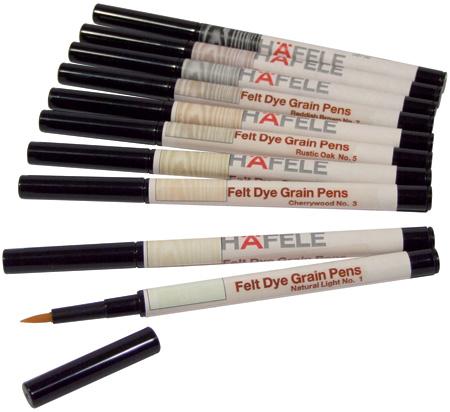 Felt dye graining pens