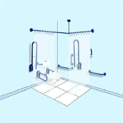 Doc M Shower Area Pack (2 rail pack 760) Stainless Steel