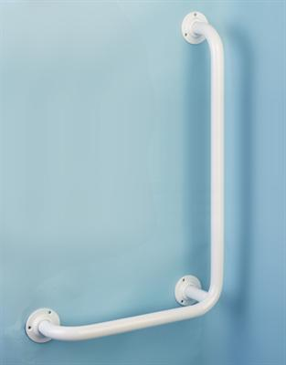 Wall L Shaped Grab Rails - Mild Steel