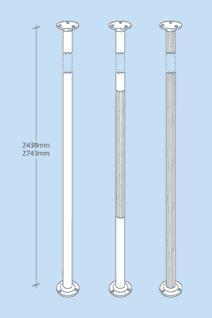 Vertical Grab Poles - Stainless Steel